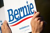 Queens, New York<br /> Queensbridge Park<br /> October 19.2019<br /> <br /> Suppress sign at Senator Bernie Sanders first major campaign rally since suffering from a heart attack earlier this month in Queensbridge Park. <br /> <br /> Congresswoman New York Rep. Alexandria Ocasio-Cortez endorses Sanders for US President at the rally.<br /> <br /> An estimated 26,000 people attended the event according to the Sanders campaign.
