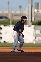 Edwin Medina (16) of the Lancaster JetHawks runs the bases during a game against the Bakersfield Blaze at The Hanger on August 5, 2015 in Lancaster, California. Bakersfield defeated Lancaster, 12-5. (Larry Goren/Four Seam Images)