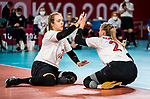 Heidi Peters and Julie Kozun, Tokyo 2020 - Sitting Volleyball // Volleyball Assis.<br /> Canada takes on Japan in sitting volleyball // Le Canada affronte le Japon en volleyball assis. 09/01/2021.