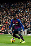 Ousmane Dembele of FC Barcelona in action during the La Liga 2018-19 match between FC Barcelona and RC Celta de Vigo at Camp Nou on 22 December 2018 in Barcelona, Spain. Photo by Vicens Gimenez / Power Sport Images