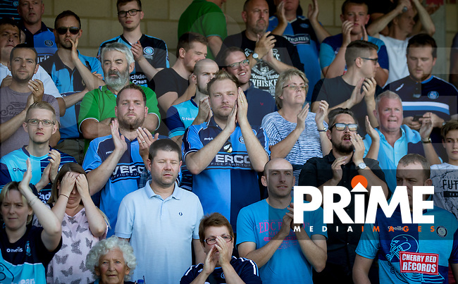 during the Sky Bet League 1 match between Wycombe Wanderers and Luton Town at Adams Park, High Wycombe, England on 1 September 2018. Photo by Andy Rowland.