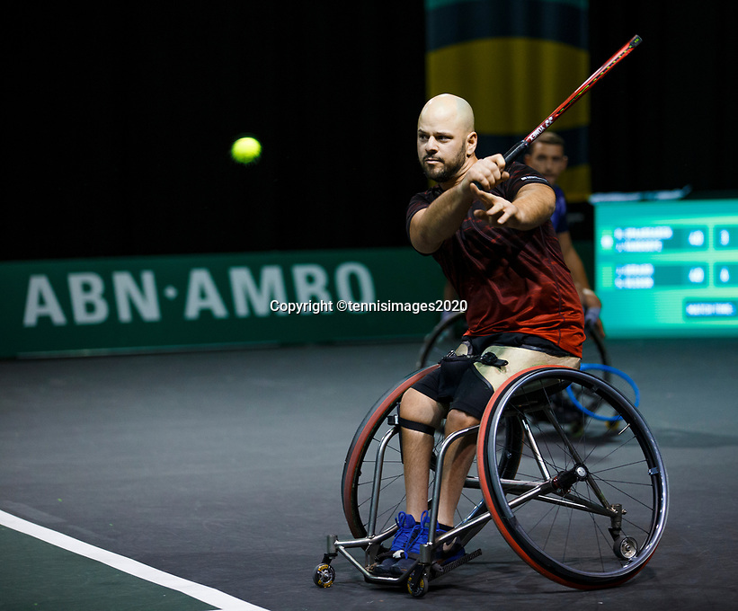 Rotterdam, The Netherlands, 11 Februari 2020, ABNAMRO World Tennis Tournament, Ahoy, <br /> Wheelchair tennis: Stefan Olsson (SWE).<br /> Photo: www.tennisimages.com