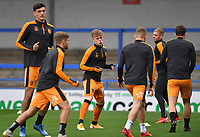 Hull City players warm up<br /> <br /> <br /> Photographer Dave Howarth/CameraSport<br /> <br /> The EFL Sky Bet League One - Rochdale v Hull City - Saturday 17th October 2020 - Spotland Stadium - Rochdale<br /> <br /> World Copyright © 2020 CameraSport. All rights reserved. 43 Linden Ave. Countesthorpe. Leicester. England. LE8 5PG - Tel: +44 (0) 116 277 4147 - admin@camerasport.com - www.camerasport.com