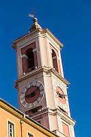 Europe/France/Provence-Alpes-Côte d'Azur/Alpes-Maritimes/Nice/ La Tour de l'Horloge, Place du Palais  // Europe, France, Provence-Alpes-Côte d'Azur, Alpes-Maritimes, Nice:  The Clock Tower, place du  Palais