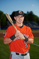 Aberdeen IronBirds Ryan McKenna (34) poses for a photo before a game against the Batavia Muckdogs on July 15, 2016 at Dwyer Stadium in Batavia, New York.  Aberdeen defeated Batavia 4-2.  (Mike Janes/Four Seam Images)