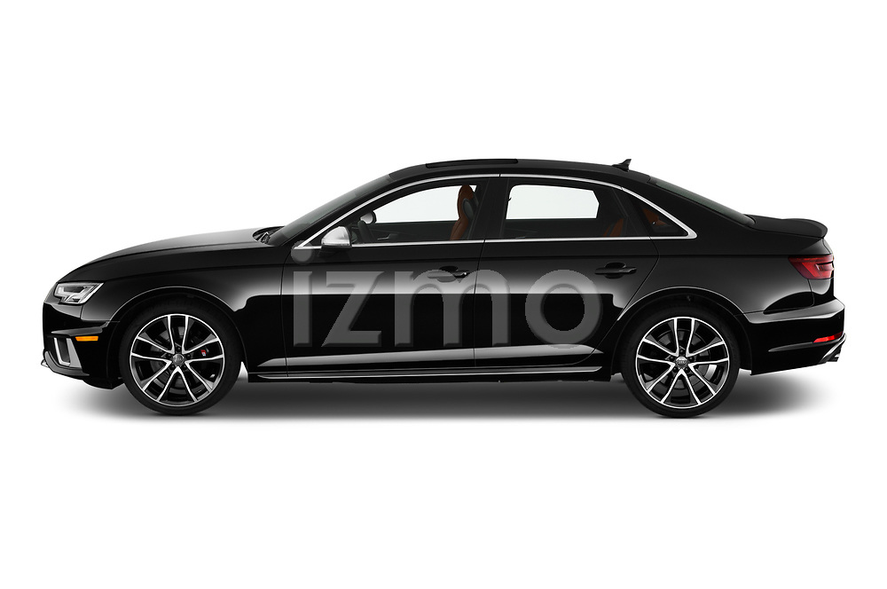 Car Driver side profile view of a 2019 Audi S4 Premium-Plus 4 Door Sedan Side View