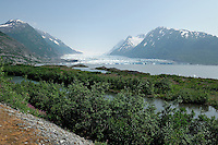 The Alaska Railroad's Spencer Glacier Whistlestop train gives visitors access to hiking, camping and stunning views such as this one.