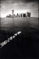 Lower Manhattan from Staten Island Ferry<br />