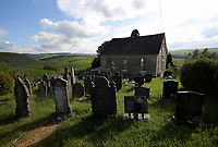 The cemetery by Capel Ybedyddwys dated 1873, one of the chapels in the village of Staylittle (Penffordd-Las in welsh)