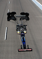 Oct. 16, 2011; Chandler, AZ, USA; NHRA top fuel dragster driver David Grubnic during the Arizona Nationals at Firebird International Raceway. Mandatory Credit: Mark J. Rebilas-