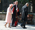 HER MAJESTY QUEEN ELIZABETH II AND PRINCE PHILIP ARRIVE AT CANONGATE KIRK IN EDINBURGH FOR THE WEDDING OF ZARA PHILLIPS AND MIKE TINDALL