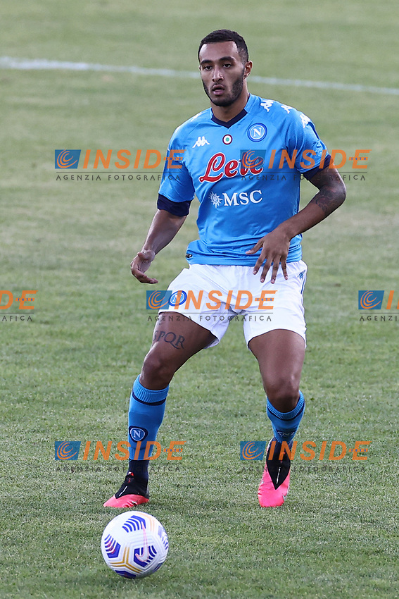 Francesco Menzioni of SSC Napoli<br /> during the friendly football match between SSC Napoli and SS Teramo Calcio 1913 at stadio Patini in Castel di Sangro, Italy, September 04, 2020. <br /> Photo Cesare Purini / Insidefoto