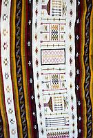 Tunisia, Sidi Bou Said.  Tunisian Rug in a Carpet Shop.