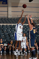 SAN ANTONIO, TX - FEBRUARY 19, 2007: The St. Edward's University Hilltoppers vs. the St. Mary's University Rattlers Women's Basketball at Bill Greehey Arena. (Photo by Jeff Huehn)
