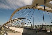 Tercer Milenio (Third Millenium) Bridge, built for the 2008 Water Expo, Zaragoza, Spain.