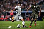 Marco Asensio Willemsen (l) of Real Madrid battles for the ball with Miroslav Radovic of Legia Warszawa during the 2016-17 UEFA Champions League match between Real Madrid and Legia Warszawa at the Santiago Bernabeu Stadium on 18 October 2016 in Madrid, Spain. Photo by Diego Gonzalez Souto / Power Sport Images