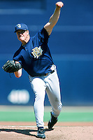 Jim Abbott of the Milwaukee Brewers pitches during a 1999 Major League Baseball Spring Training game in Phoenix, Arizona. (Larry Goren/Four Seam Images)