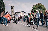 up the Madonna del Ghisallo (754m)<br /> <br /> 112th Il Lombardia 2018 (ITA)<br /> from Bergamo to Como: 241km