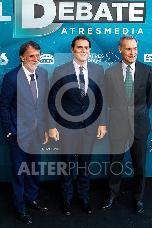 Leader of Ciudadanos Albert Rivera before the electoral debate organized by Atresmedia television network on April 22, 2019 in Madrid, Spain.(ALTERPHOTOS/Alconada).