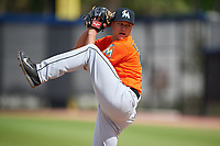 Miami Marlins pitcher Zech Lemond (77) during a Minor League Spring Training game against the Washington Nationals on March 28, 2018 at FITTEAM Ballpark of the Palm Beaches in West Palm Beach, Florida.  (Mike Janes/Four Seam Images)