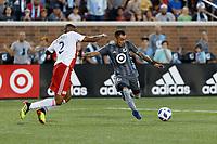 Minneapolis, MN - Wednesday, July 18, 2018: Minnesota United FC played New England Revolution at TCF Bank Stadium Final score Minnesota United 2, New England 1