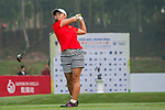 Kaho Monica Matsubara of USA tees off at tee one during the 9th Faldo Series Asia Grand Final 2014 golf tournament on March 18, 2015 at Mission Hills Golf Club in Shenzhen, China. Photo by Xaume Olleros / Power Sport Images