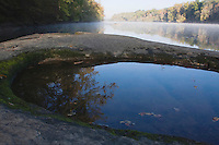 Pool of water and Cape Fear River, Raven Rock State Park, Lillington, North Carolina, USA