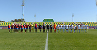 20190301 - LARNACA , CYPRUS : both team line ups pictured during a women's soccer game between Finland and Czech Republic , on Friday 1 March 2019 at the AEK Arena in Larnaca , Cyprus . This is the second game in group A for Both teams during the Cyprus Womens Cup 2019 , a prestigious women soccer tournament as a preparation on the Uefa Women's Euro 2021 qualification duels. PHOTO SPORTPIX.BE   DAVID CATRY