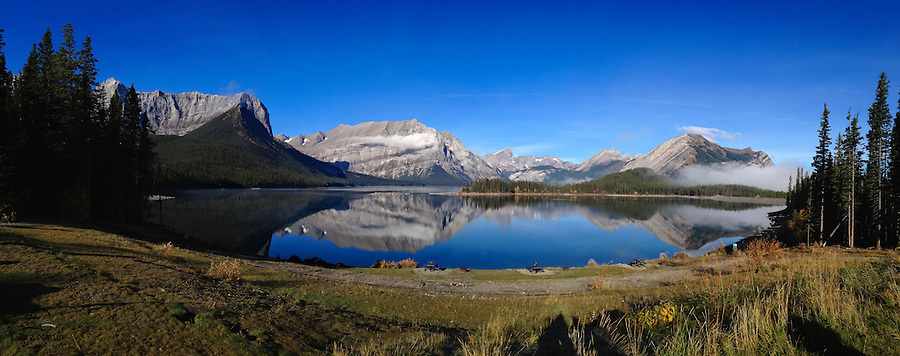 iPhone panorama of Upper Kananaskis Lake, Alberta, Canada.