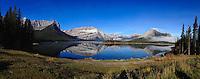 iPhone panorama of Upper Kananaskis Lake, Alberta, Canada.