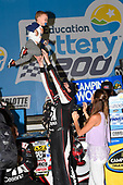 NASCAR Camping World Truck Series<br /> North Carolina Education Lottery 200<br /> Charlotte Motor Speedway, Concord, NC USA<br /> Friday 19 May 2017<br /> Kyle Busch, Cessna Toyota Tundra celebrates his win in Victory Lane<br /> World Copyright: Nigel Kinrade<br /> LAT Images<br /> ref: Digital Image 17CLT1nk04925