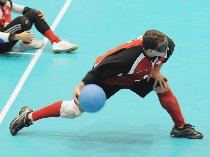 Bruno Hache, Guadalajara 2011 - Goalball.<br /> Canada competes in the Goalball Bronze Medal Match // Le Canada participe au match pour la médaille de bronze de goalball. 11/18/2011.