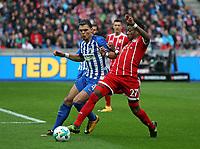01.10.2017, Football 1. Bundesliga 2017/2018, 7.  match day, Hertha BSC Berlin - FC Bayern Muenchen, Olympiastadium Berlin.  Karim Rekik (Hertha BSC Berlin)  -  David Alaba (Bayern Muenchen)  *** Local Caption *** © pixathlon<br /> <br /> +++ NED + SUI out !!! +++<br /> Contact: +49-40-22 63 02 60 , info@pixathlon.de
