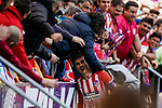 Antoine Griezmann of Atletico de Madrid celebrates scoring team's second goal with the soccer supporters during the La Liga 2018-19 match between Atletico de Madrid and Deportivo Alaves at Wanda Metropolitano on December 08 2018 in Madrid, Spain. Photo by Diego Souto / Power Sport Images