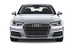 Car photography straight front view of a 2017 Audi A4 Premium 4 Door Sedan