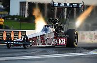 Apr. 29, 2011; Baytown, TX, USA: NHRA top fuel dragster driver Larry Dixon during qualifying for the Spring Nationals at Royal Purple Raceway. Mandatory Credit: Mark J. Rebilas-