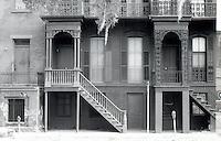 GA: Savannah--Row Houses, high porches.