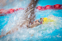 Jiayu Xu of China in act at men's 100m backstoke final during 18th Fina World Championships Gwangju 2019 at Nambu University Municipal Aquatics Centre, Gwangju, on 23  July 2019, Korea.  Photo by : Ike Li / Prezz Images