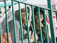 France, Paris, 30.05.2014. Tennis, French Open, Roland Garros, Raining on court two<br /> Photo:Tennisimages/Henk Koster