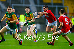 Jason Foley, Kerry in action against Colm O' Callaghan, Cork, during the Munster GAA Football Senior Championship Semi-Final match between Cork and Kerry at Páirc Uí Chaoimh in Cork.