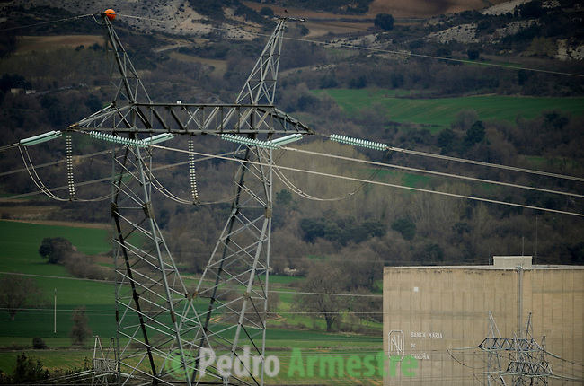 Spain. A general view of the Santa Maria de Garona nuclear plant, northern Spain, on March 27, 2011. The nuclear reactor Garona (Burgos) entered service in 1971 and operates with the same technology as the Fukushima 1, the Japanese reactor. (c) Pedro ARMESTRE