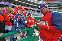 29 March 2008: Washington Nationals infielder Ronnie Belliard signs autographs prior to an exhibition game against the Baltimore Orioles at Nationals Park, in Washington, DC. The matchup is the first professional game to be played in the new ballpark, prior to the upcoming official opening day inaugural game. ..Mandatory Photo Credit: Ed Wolfstein Photo