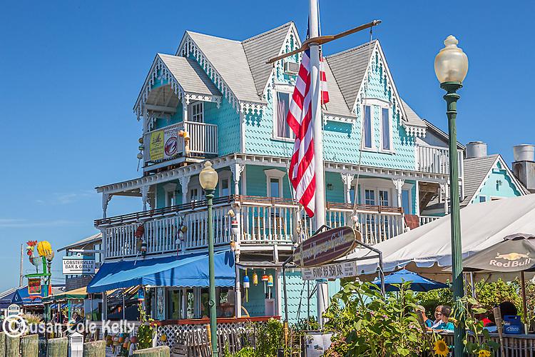 Church's Pier in Oak Bluffs, Marthas Vineyard, Massachusetts, USA