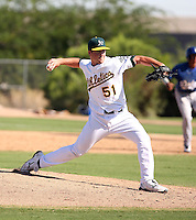 Connor Hoehn - Oakland Athletics - 2010 Instructional League.Photo by:  Bill Mitchell/Four Seam Images..
