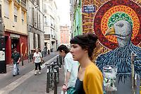 Rue Pastoret in the Cours Julien district of Marseille 17 June 2011