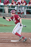 Brian Guymon #22 of the Stanford Cardinal plays against the Arizona State Sun Devils on April 29, 2011 at Packard Stadium, Arizona State University, in Tempe, Arizona. .Photo by:  Bill Mitchell/Four Seam Images.