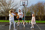 Fergal O'Sullivan who is doing basketball practice and recordings for Zoom sessions for indoor and outdoor practice with his daughters Ava and Fiadh O'Sullivan