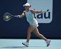 MIAMI GARDENS, FL - MARCH 30: Ashleigh Barty Vs Aryna Sabalenka at the 2021Miami Open at Hard Rock Stadium on March 30, 2021 in Miami Gardens, Florida. <br /> CAP/MPI04<br /> ©MPI04/Capital Pictures