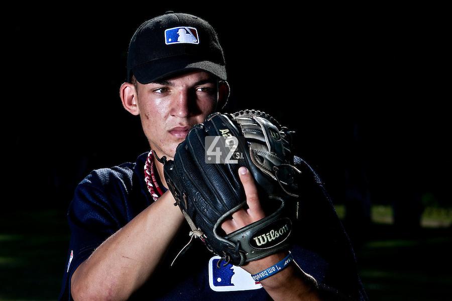 Baseball - MLB European Academy - Tirrenia (Italy) - 22/08/2009 - Dylan Lindsay of South Africa (Kansas City Royals)