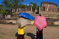 Tourist at Polonnaruwa-Mediaeval Capital City, Sri Lanka